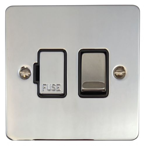 G&H FC357 Flat Plate Polished Chrome 1 Gang Fused Spur 13A Switched